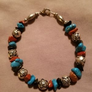 Jewelry - Sterling Silver & Turquoise Bracelet